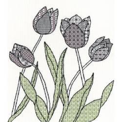 Blackwork Tulips